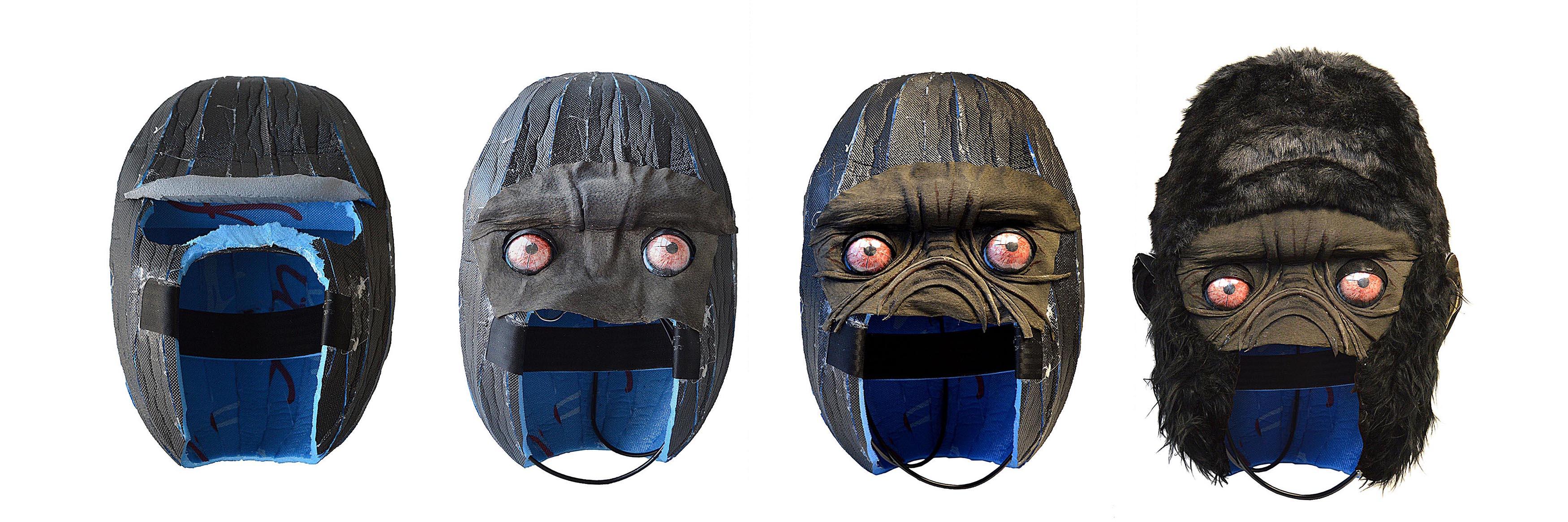 Gorilla-Kopf-Aufbau